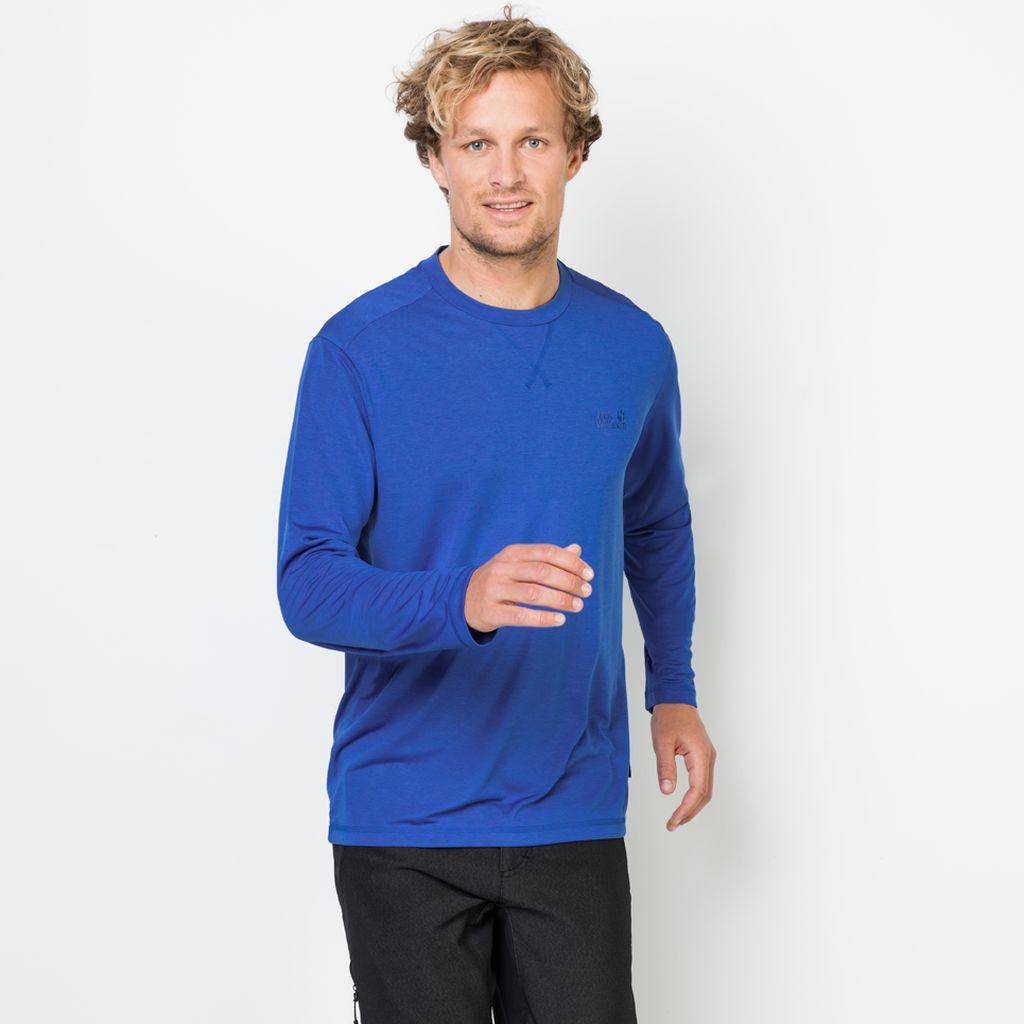 Jack Wolfskin Koszulka CROSSTRAIL LONGSLEEVE MEN coastal blue