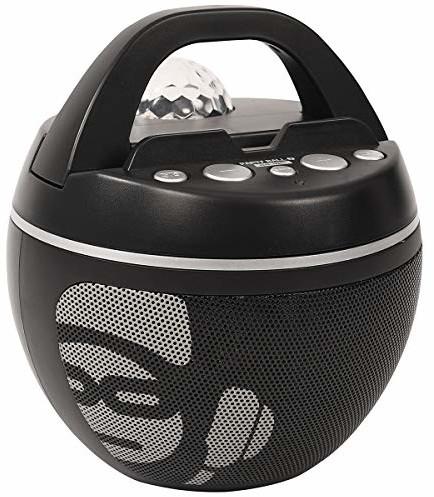 iDance Party Ball BB10K przenośny głośnik stereo 30 W czarny, szary - przenośny głośnik (30 W, przewodowy i bezprzewodowy, A2DP, Micro-USB, przenośny głośnik stereo, czarny, szary)