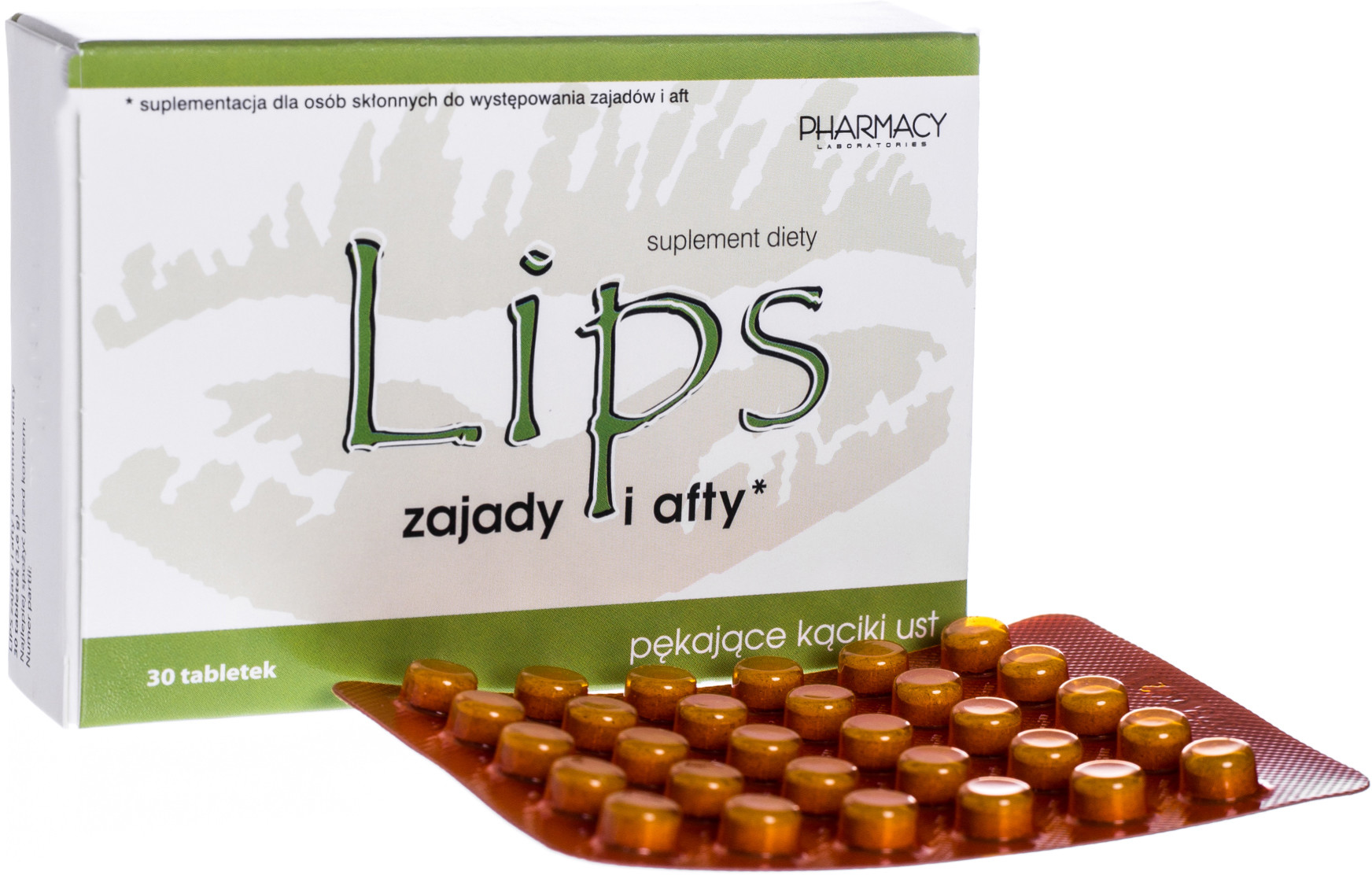 PHARMACY LAB Lips na zajady i afty x 30 tabl