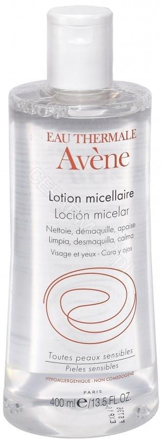 AVENE Avene płyn micelarny do oczyszczania i demakijażu skóry wrażliwej skłonnej do zaczerwień 400 ml