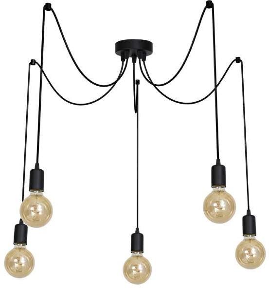 Milagro LAMPA wisząca ARACHNE 601 industrialna OPRAWKA metalowa ZWIS pająk spider czarny 601