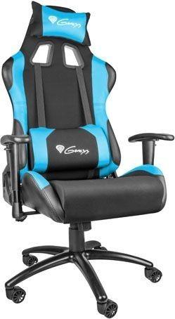 NATEC NATEC Fotel dla graczy Genesis Nitro550 Czarny/Niebieski NFG-0783