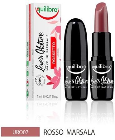 EQUILIBRA EQUILIBRA_Loves Nature Lipstick pomadka do ust Red Marsala 4ml