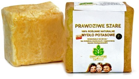 Mydła naturalne - różne rodzaje Naturalne szare mydło potasowe w kawałku 100 g PD100124