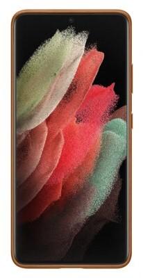 Samsung Leather Cover do Galaxy S21 Ultra brown EF-VG998LAEGWW