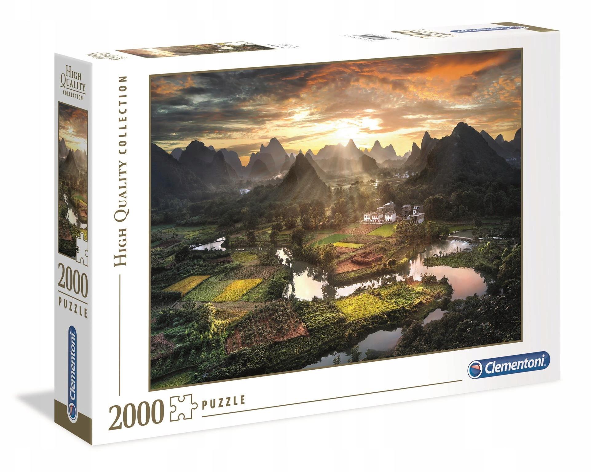 Puzzle 2000el Widok na Chiny k-32564