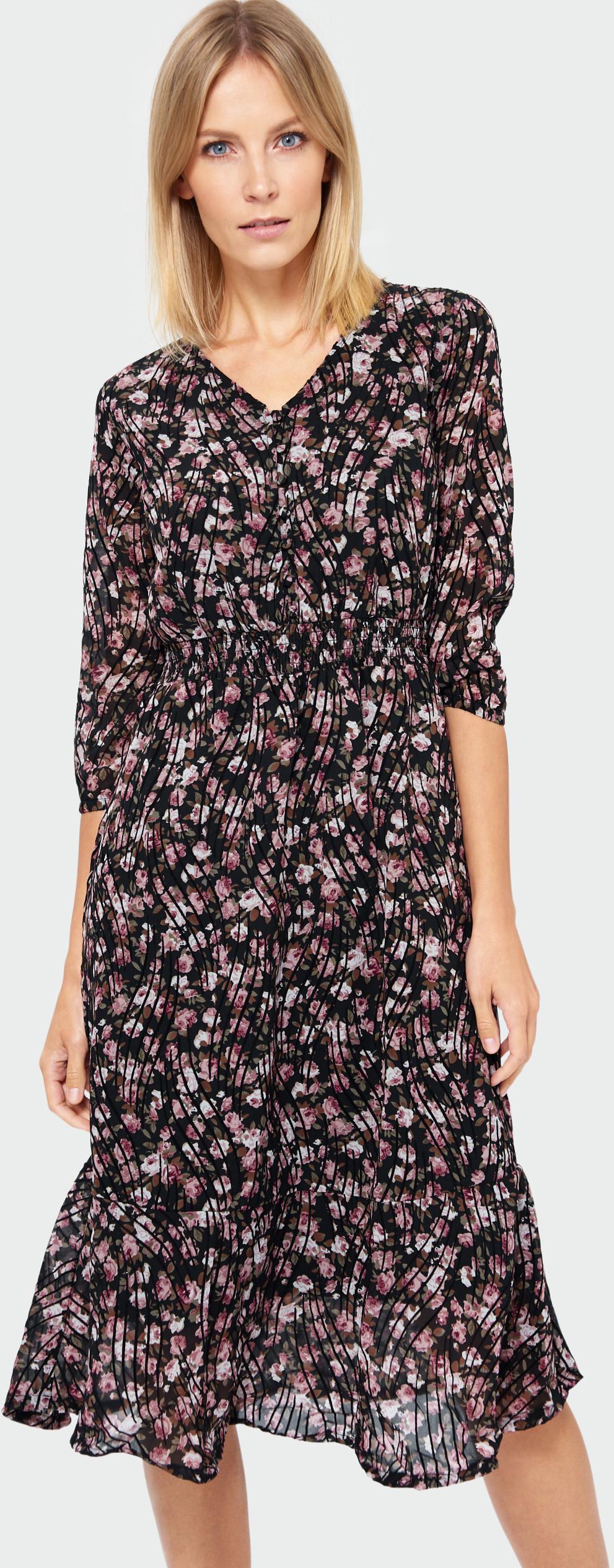 Elegancka sukienka z nadrukiem SUK569W19FLW43