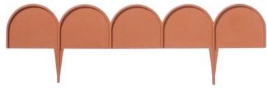 Prosperplast Płotek Garden Line IKRA terakota