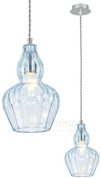 Maytoni LAMPA wisząca EUSTOMA MOD238-PL-01-BL Maytoni szklana OPRAWA zwis niebieski MOD238-PL-01-BL