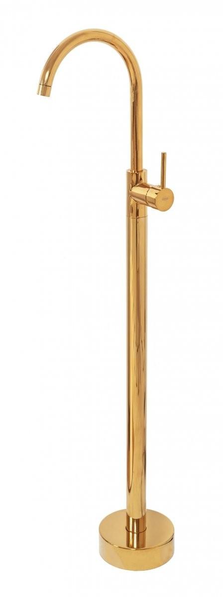 Rea łazienka z wyobraźnią Bateria podłogowa umywalkowa wolnostojąca Ortis gold B4890