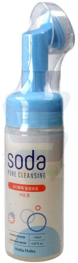 Holika Holika Soda Pore Cleasing Pianka oczyszczająca do twarzy ze szczoteczką 150 ml