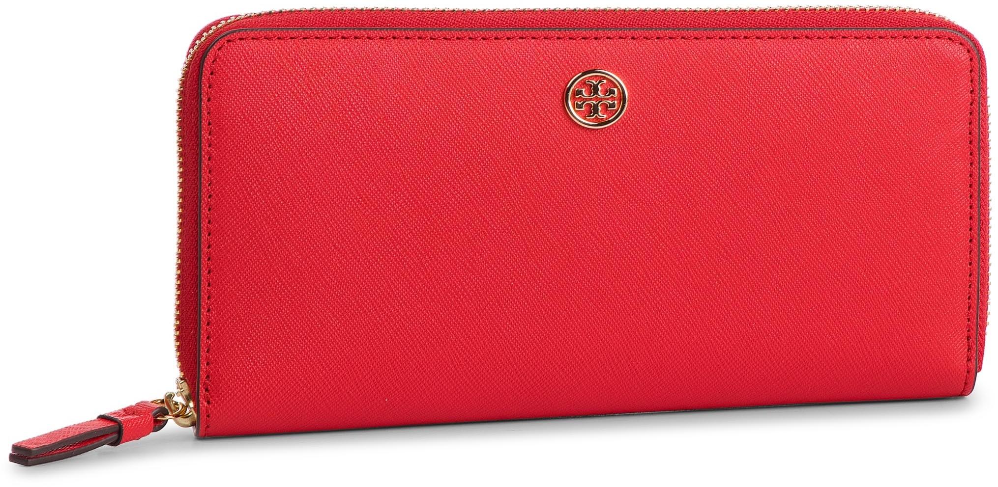 a00f4335a412d Tory Burch Duży Portfel Damski TORY BURCH - Robinson Zip Continental Wallet  52707 Brilliant Red 612