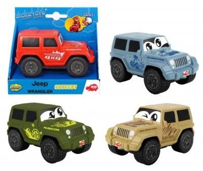 Dickie Toys Happy Sgueezy Jeep Wrangler, 4 rodzaje