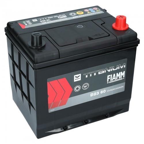Fiamm TITANIUM BLACK D23 60 12V 60Ah 540A (EN) P+