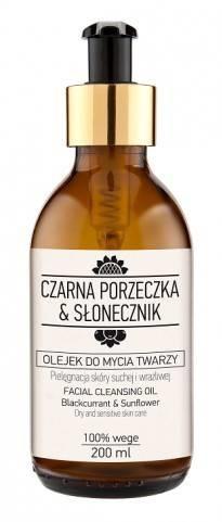 NOVA KOSMETYKI Nova Kosmetyki Czarna Porzeczka&Słonecznik Olejek do mycia twarzy 200ml 53967-uniw