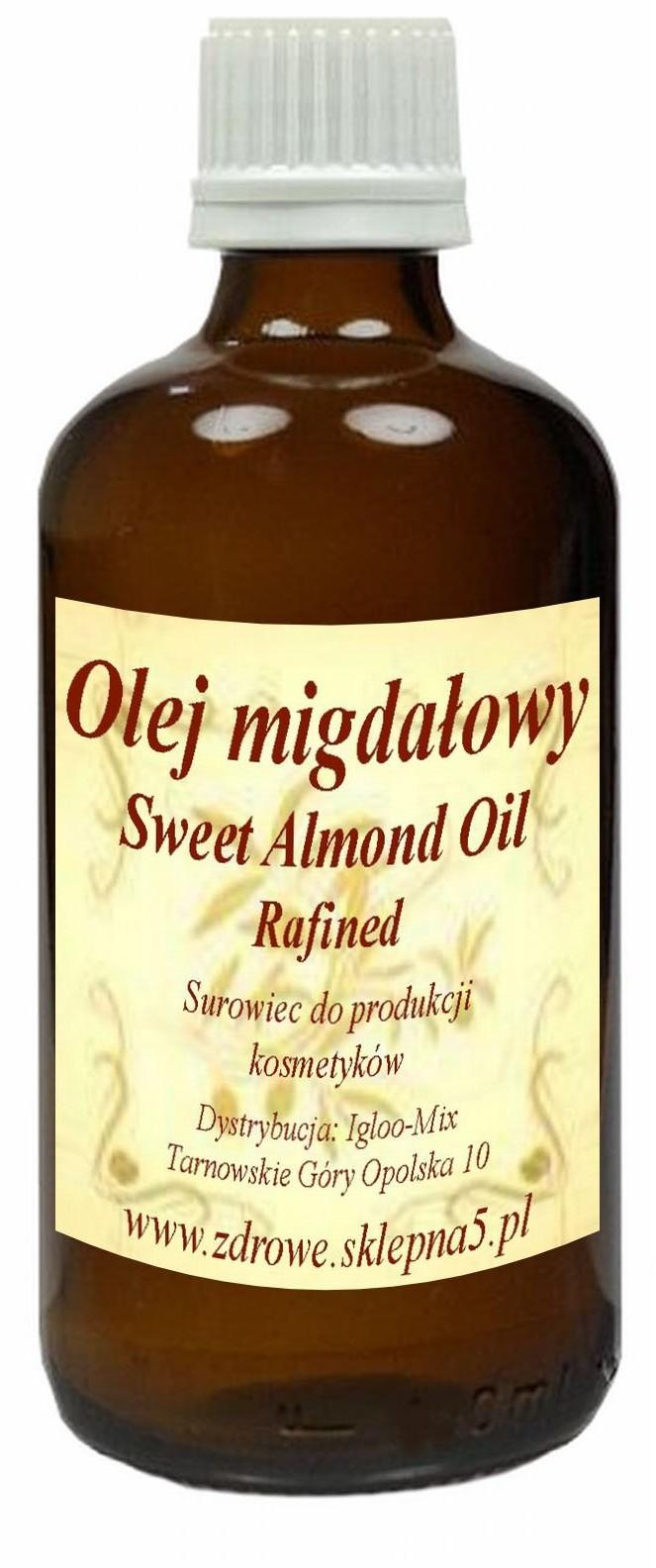 Olej Migdałowy 100ml - słodkie migdały