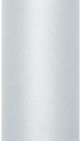 PartyDeco Tiul gładki, szary, 0,30 x 9 m TIU30-091
