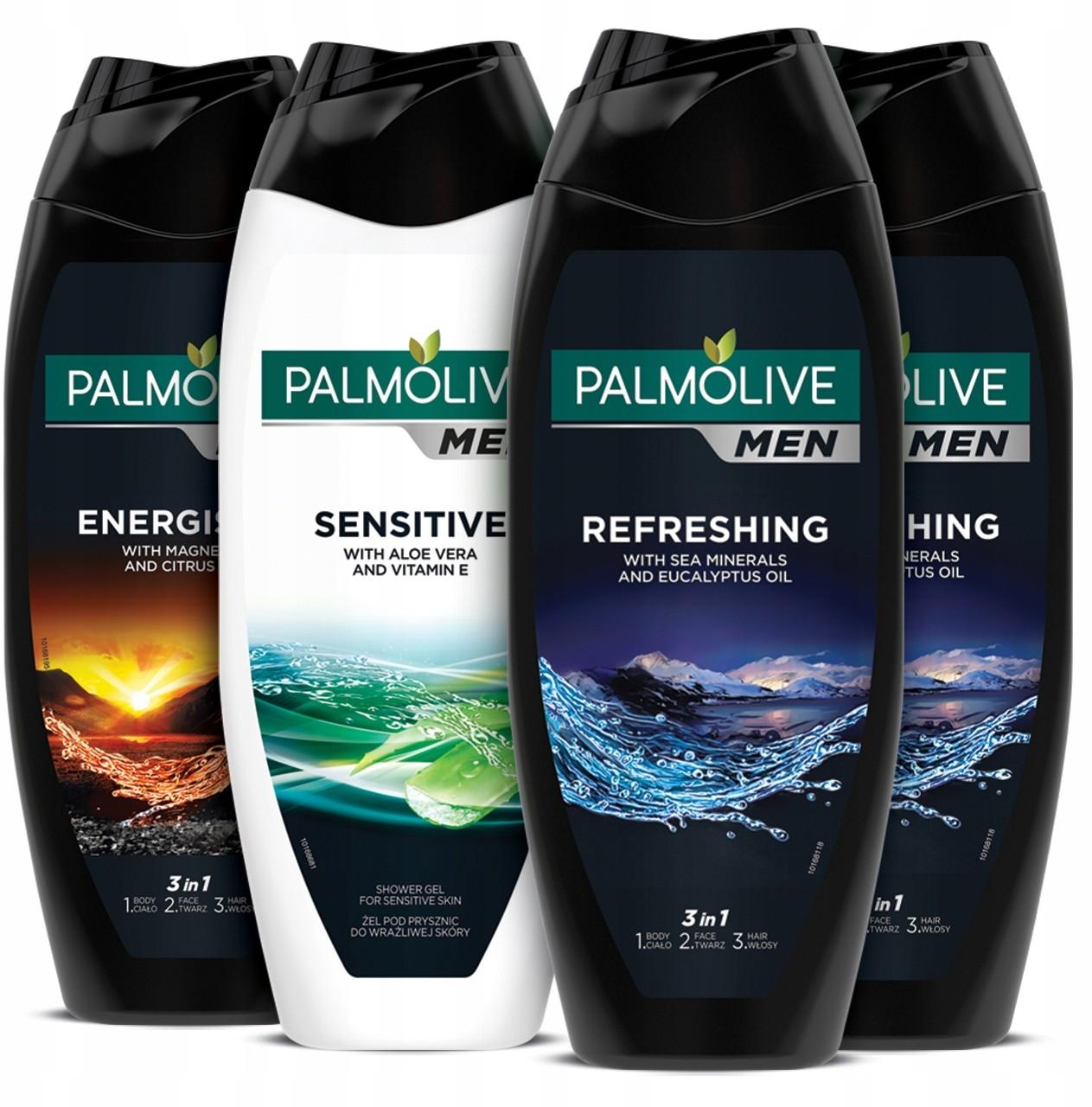Palmolive Men żel pod prysznic męski 3w1 4x500 ml