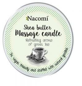 Nacomi Shea Butter Massage Candle świeca do masażu z masłem shea Zielona Herbata 150g