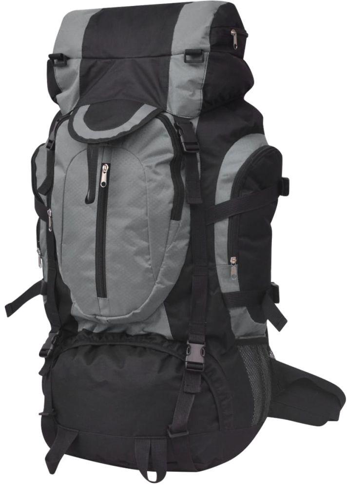 vidaXL vidaXL Plecak turystyczny XXL 75 L czarno-szary