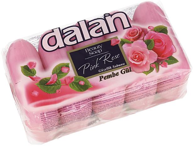 Dalan Beauty Soap Pink Rose Zestaw 5 Mydeł W Kostce Różowa Róża 5x70g