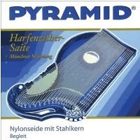 Pyramid 663609) struna do cytry nylonowa ze stalowym rdzeniem Cytra o rezonansie harfowym/powietrznym H 9