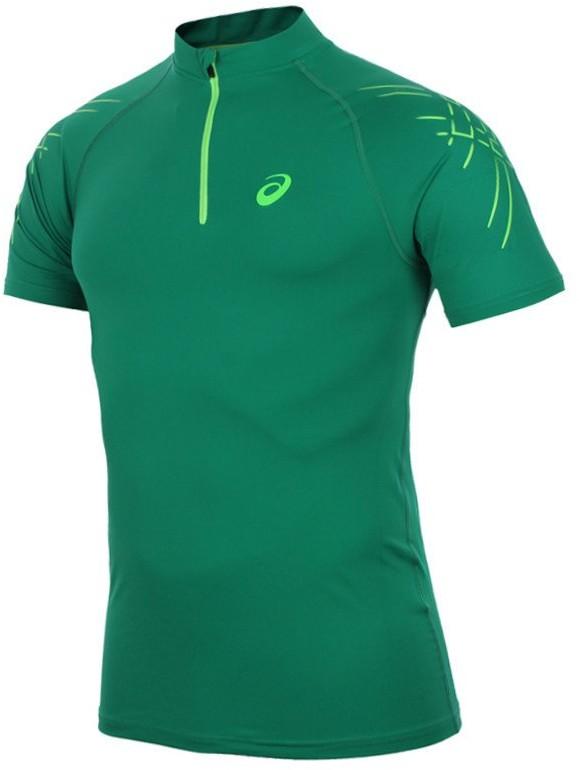 Asics koszulka kompresyjna do biegania męska ASICS INNER MUSCLE 1/2 ZIP TOP / 114435-5007 RUAS-0274/L
