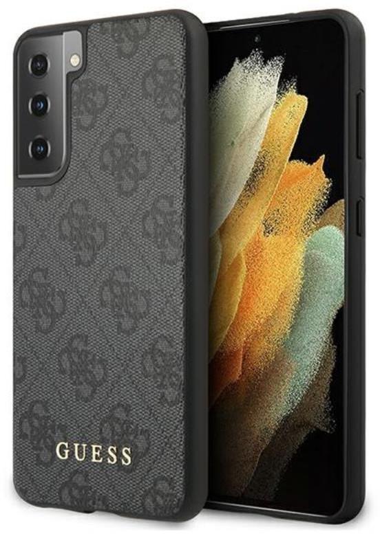 Guess 4G Metal Logo - Etui Samsung Galaxy S21+ (szary)
