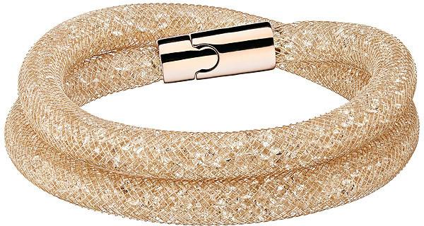 Swarovski Stardust Deluxe Bracelet White Rose gold-plated