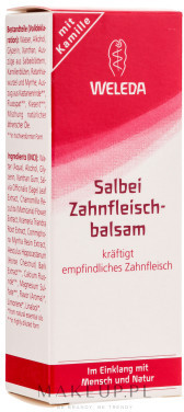 Weleda Szałwiowy balsam do dziąseł - Salbei Zahnfleischbalsam Szałwiowy balsam do dziąseł - Salbei Zahnfleischbalsam