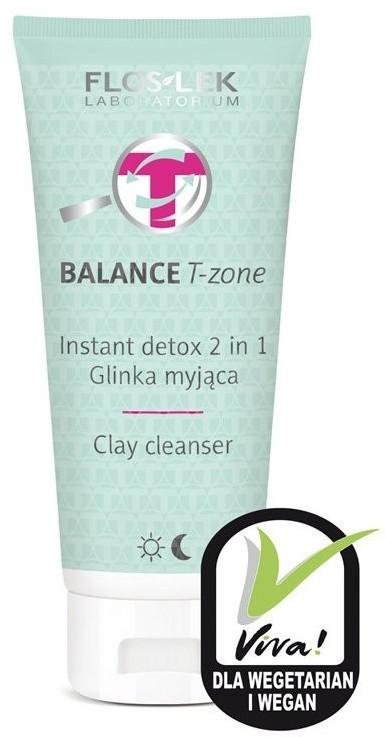 Flos-Lek Floslek Balance T-Zone Glinka myjąca Instant Detox 2w1 do cery mieszanej 125ml