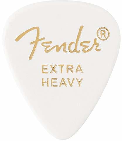 Fender 351 SHAPE CLASSIC PICKS celuloid Plektren - kształt: 351 - opakowanie 12 sztuk - grubość: X-Heavy - kolor: biały 1980351280