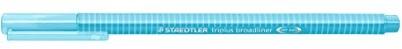 Staedtler 33834triplus braodliner trójkątny chwytem w etui z kartonu, metalizowane koronka, około 0,8MM, 10sztuk, aquablau 338-34
