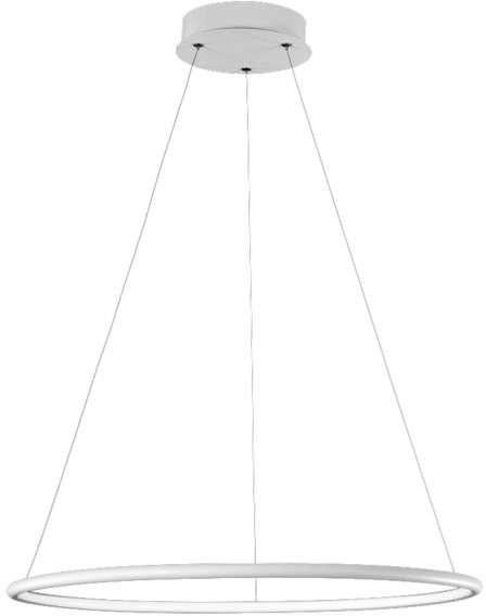 Milagro LAMPA wisząca ORION 507 okrągła OPRAWA zwis LED 22W pierścień ring czarny 507