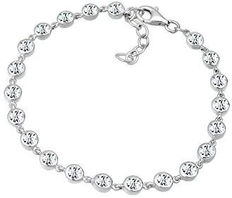 Elli Premium damska bransoletka Biały  srebro 925rodowane kryształ biały szlif okrągły, srebro, srebro 0212721712_18
