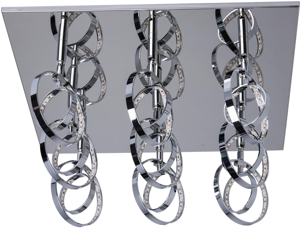MW-Light Chromowany plafon sufitowy LED wyjątkowa stylistyka Techno 678011609