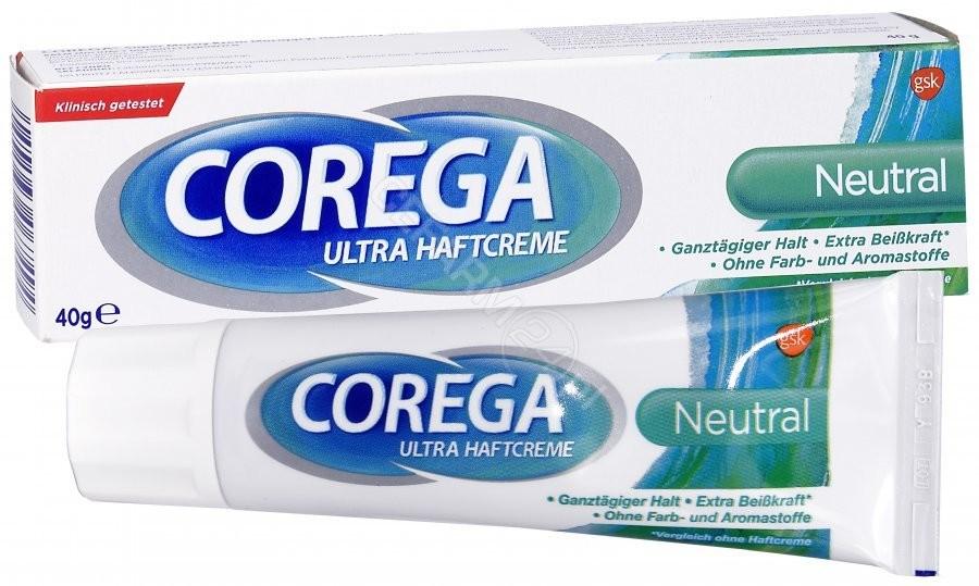 GlaxoSmithKline Corega Super Mocny krem mocujący do protez o neutralnym smaku 40 g + próbka Corega super mocny krem neutralny smak 8,5 g GRATIS! | DARMOWA DOSTAWA OD 199 PLN!