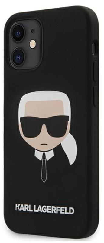 Karl Lagerfeld Silicone Ikonik Karl`s Head - Etui iPhone 12 mini (czarny) 3700740482711