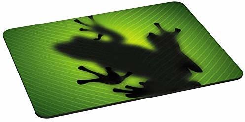 Pedea PEDEA podkładka pod mysz dla graczy i biura  350 x 280 mm  z wszytymi krawędziami i antypoślizgowym spodem, Green Frog