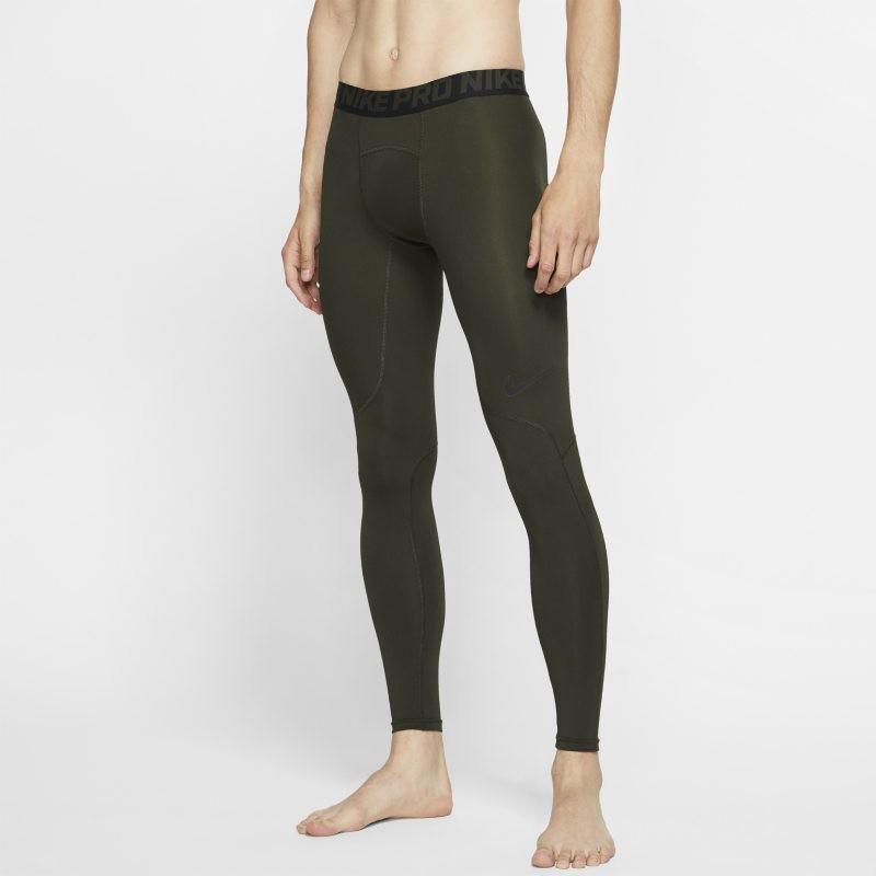 Nike Legginsy męskie Pro - Oliwkowy 838067-355