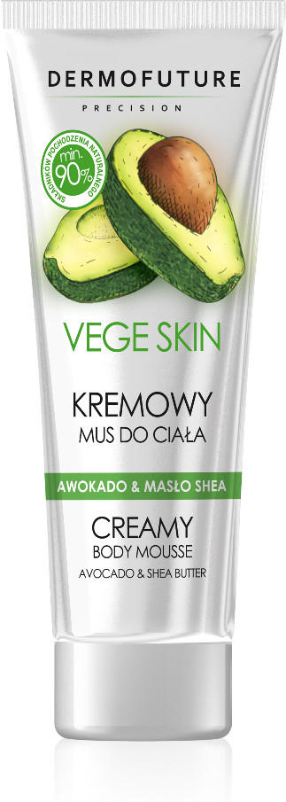 Dermo Future Vege Skin Creamy Body Mousse kremowy mus do ciała Avocado & Shea Butter 200ml