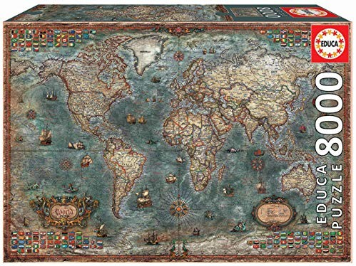 Educa 18017 - 8000 części mapa świata histrorskiego