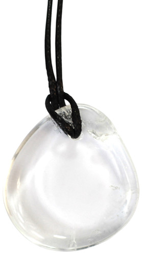 Ogrody Hildegardy Kamienie szlachetne - Kryształ górski kamień polerowany wisiorek 78501