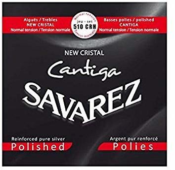 Savarez Struny do gitary klasycznej New Cristal Cantiga zestaw standard tension szlifowany 510CRH 510CRH