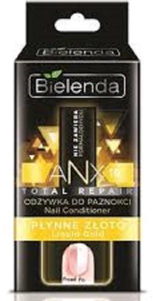 Bielenda Professional, Anx Total Repair, odżywka do paznokci płynne złoto, 11 ml