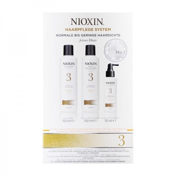 Nioxin Nioxin System 3 zestaw do włosów cienkich normalnych i lekko przerzedzonych naturalnych koloryzowanych