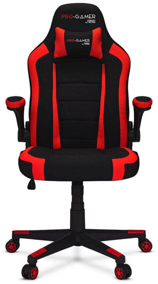 PRO-GAMER ATILLA+ Materiał czarno-czerwony