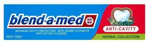 PROCTER & GAMBLE Pasta do zębów Blend-A-Med Przeciwpróchnicza Ziołowa Kolekcja 100 ml