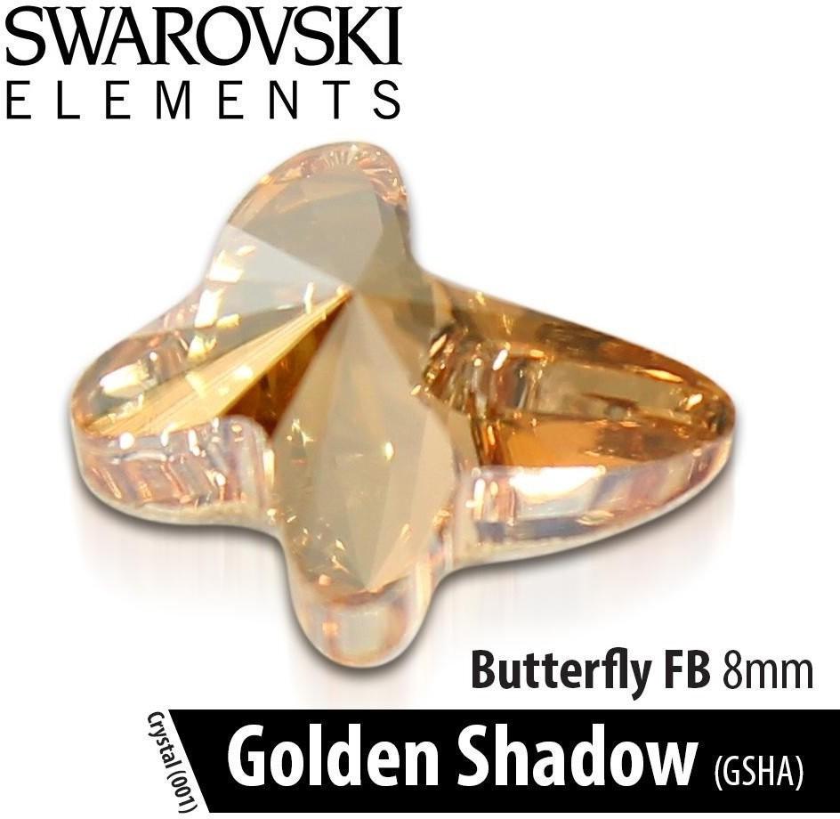 Vanity Swarovski Motyl - Crystal Golden Shadow 8mm 1szt.
