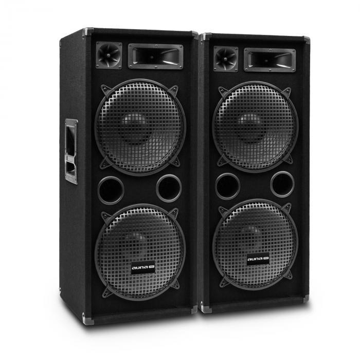 """Auna Pro Pro PW-2222 MKII, para pasywnych kolumn nagłośnieniowych, 12"""", maks. 500W RMS/ 1000W 35001x2"""
